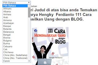 Cara Memasang Terjemahan Bahasa Didalam Blog