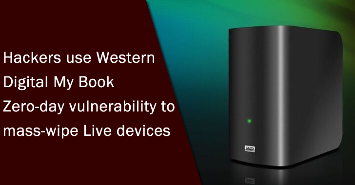 Hackers Use Western Digital My Book Zero-day Vulnerability to Mass-wipe Live Devices