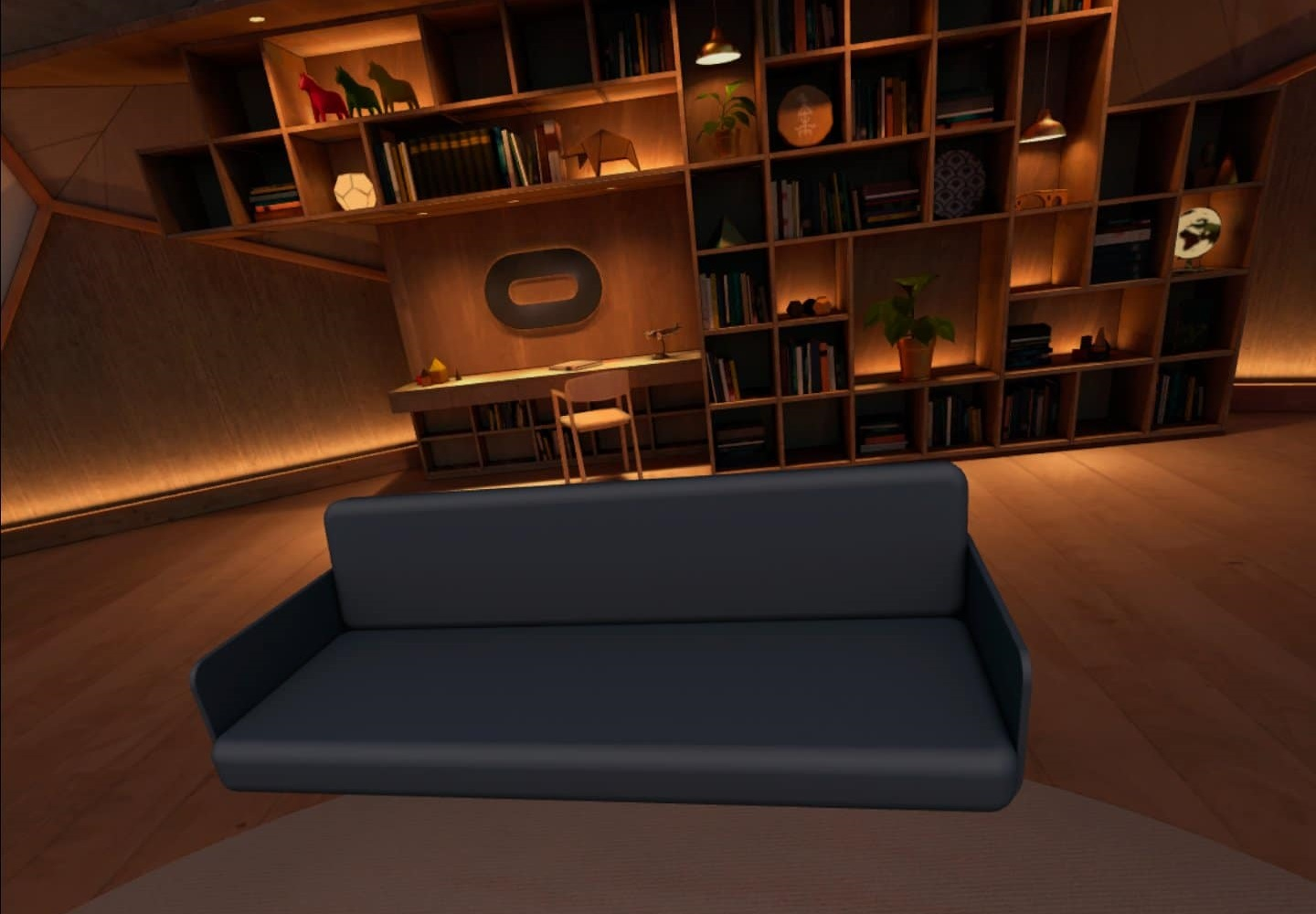 With the help of the new feature of Oculus Quest, you can mark your real couch in VR
