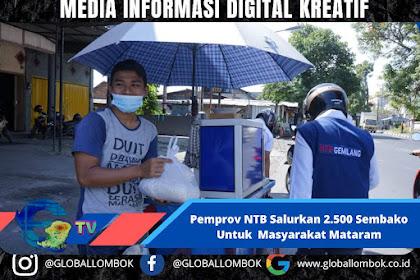 Selama PPKM , Pemprov NTB Bagikan 2.500 Sembako Untuk Masyarakat Mataram