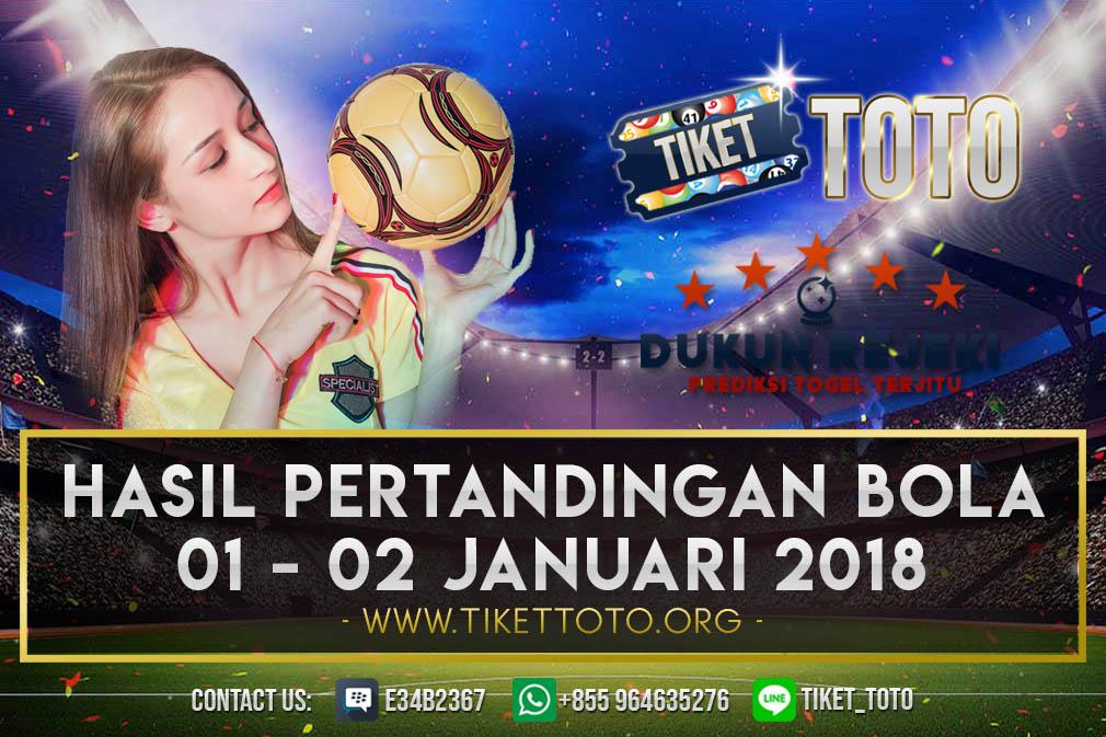 HASIL PERTANDINGAN BOLA 01 – 02 FEBRUARI 2019