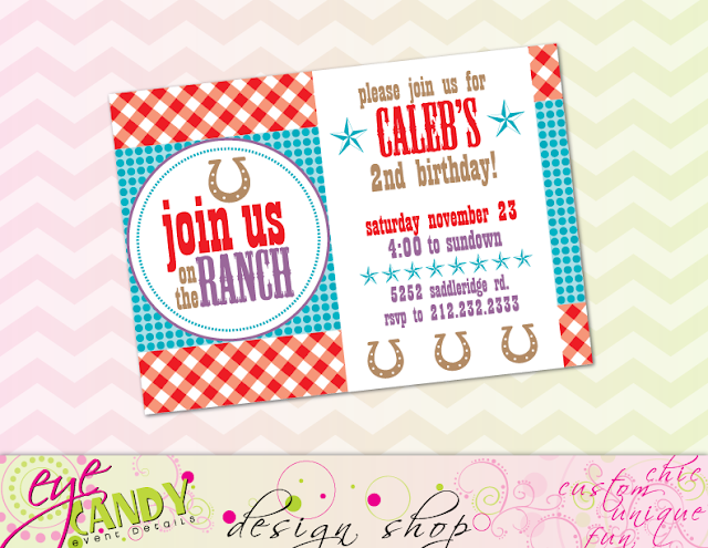 join us on the ranch, cowboy birthday party invitation, cowboy invite