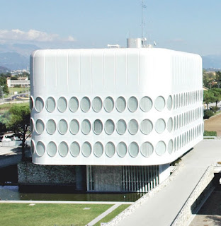 The distinctive Snaidero headquarters building