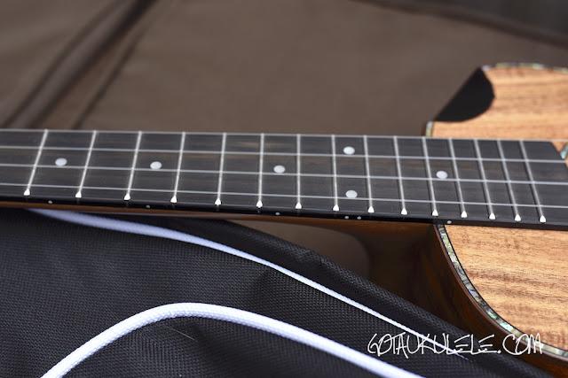 Snail SR04-TE Tenor Ukulele fingerboard