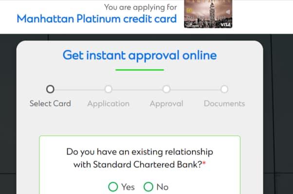SC Manhattan Credit Card Apply
