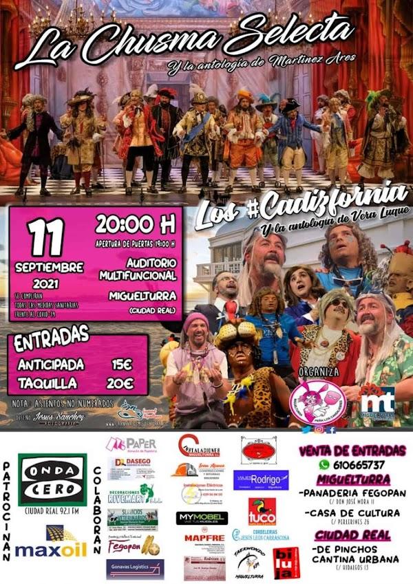 Vuelve el mejor carnaval gaditano a Miguelturra este septiembre