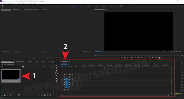 Membuat Squence di Adobe Premiere Pro