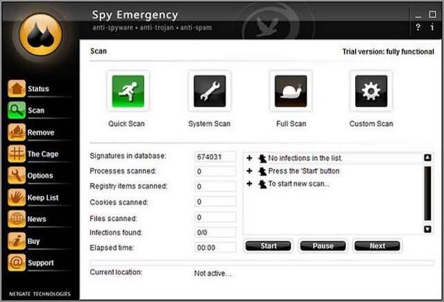 NETGATE Spy Emergency 25.0.590.0 - Phần mềm chống phần mềm gián điệp