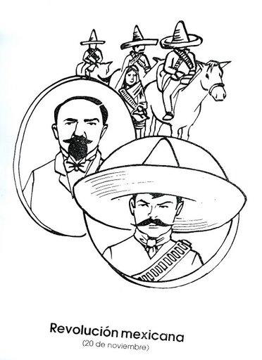 La Revolución Mexicana Dibujos Para Colorear Ciclo Escolar