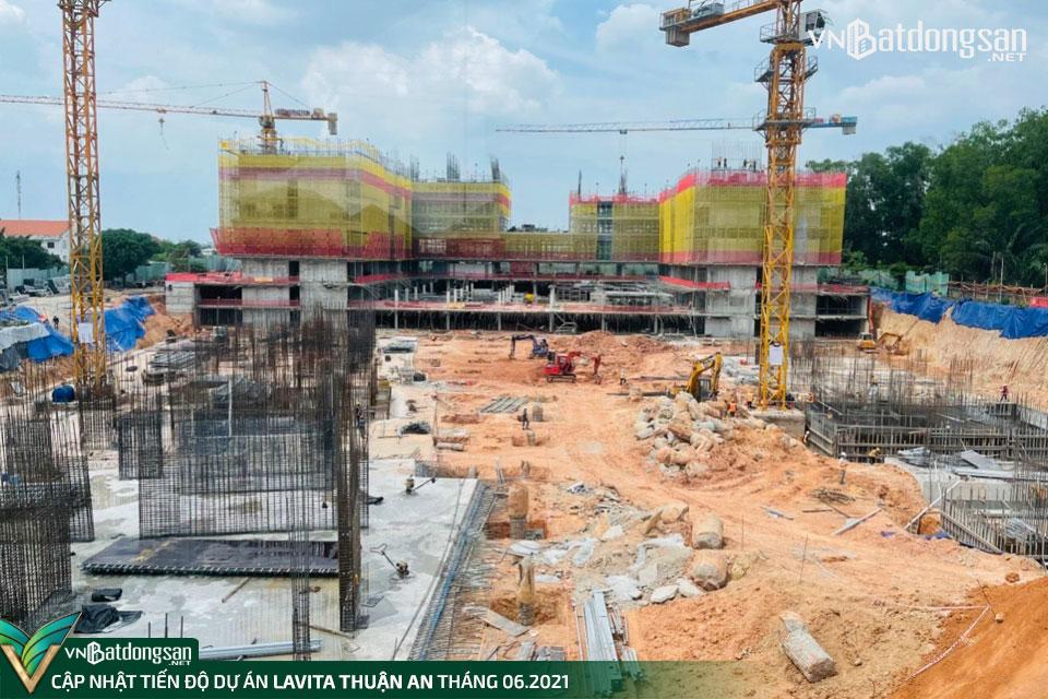 Tiến độ dự án Lavita Thuận An Tháng 06/2021