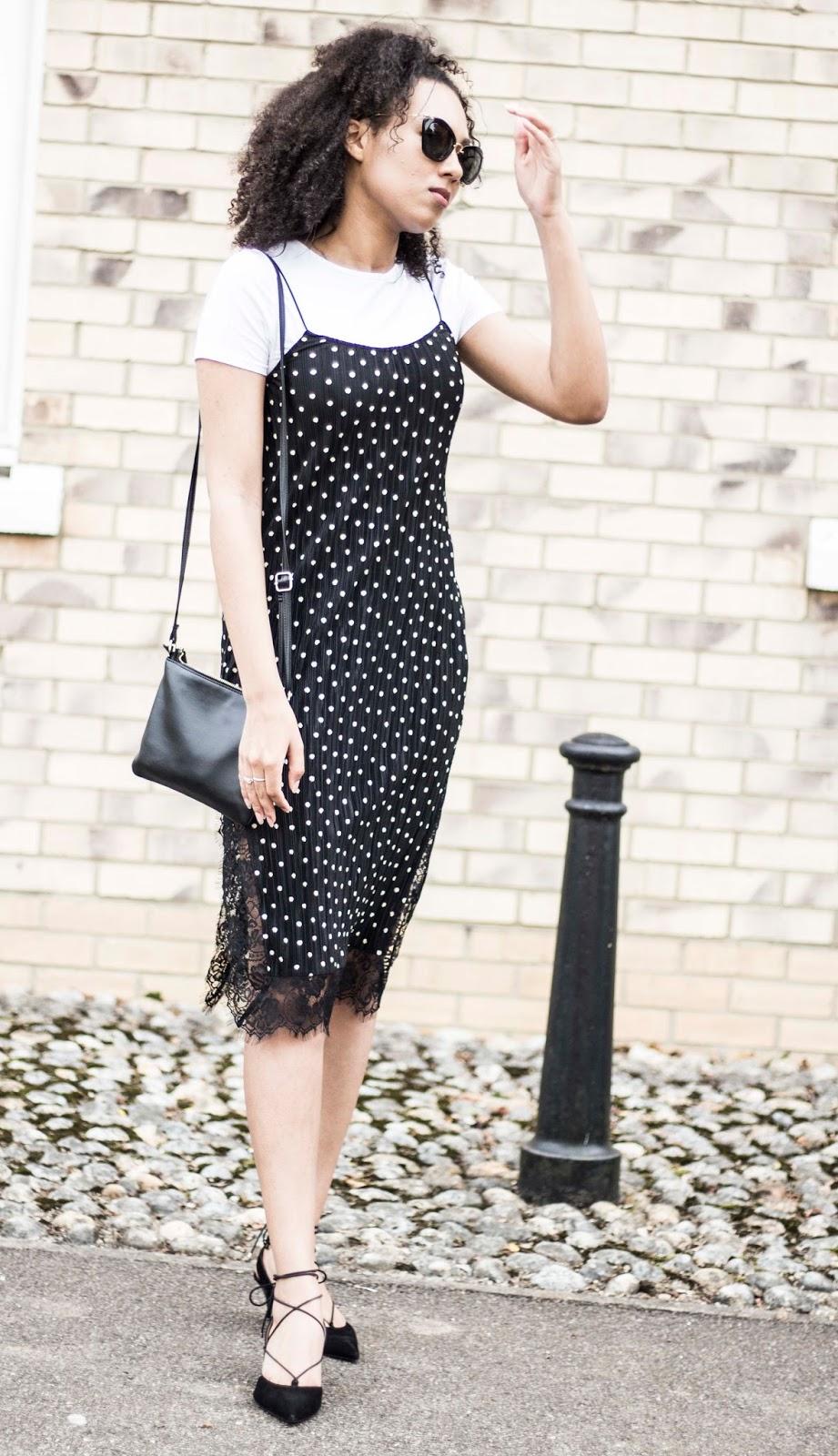 blogger style slip dress trend