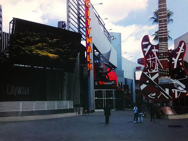 City walk inside Universal Studios