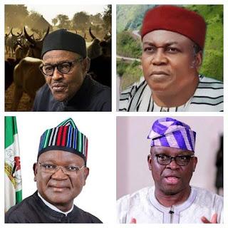 Buhari, Ishaku, Ortom and Fayose
