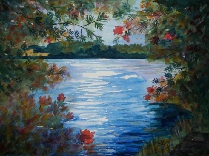 Рисунки акварелью. Ellen Levinson
