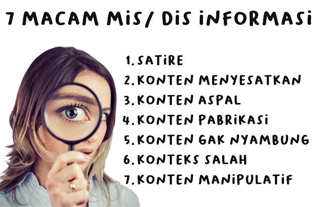 7 macam dis mis informasi