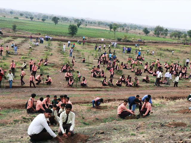 Volunteer record-breaking environmental pledge in India