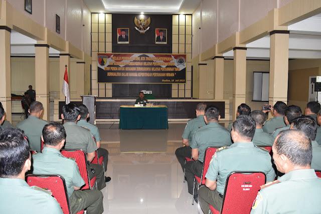 Tingkatkan Pertahanan Aspek Darat, Korem 081/DSJ Gelar Bin RTRW