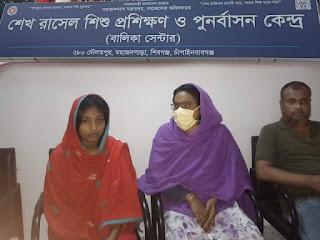 """শিবগঞ্জে সমাজসেবা ও শেখ রাসেল শিশু প্রশিক্ষন কেন্দ্র""""র হস্তক্ষেপে বন্ধ হলো বাল্যবিবাহ"""