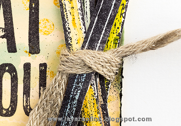Layers of ink - Happy Pencil Tag by Anna-Karin with Darkroom Door stamps.