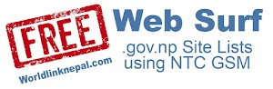 Free Website Browsing in Nepal -  Nepal Telecom free GSM mobile data .gov.np site lists