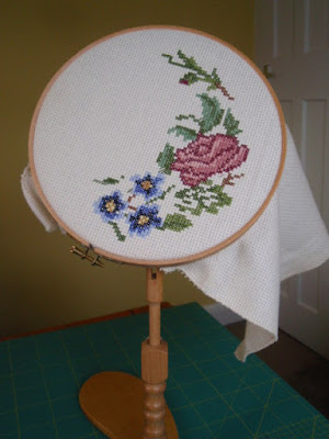 Rosebud, from a pattern by Jane Greenoff.