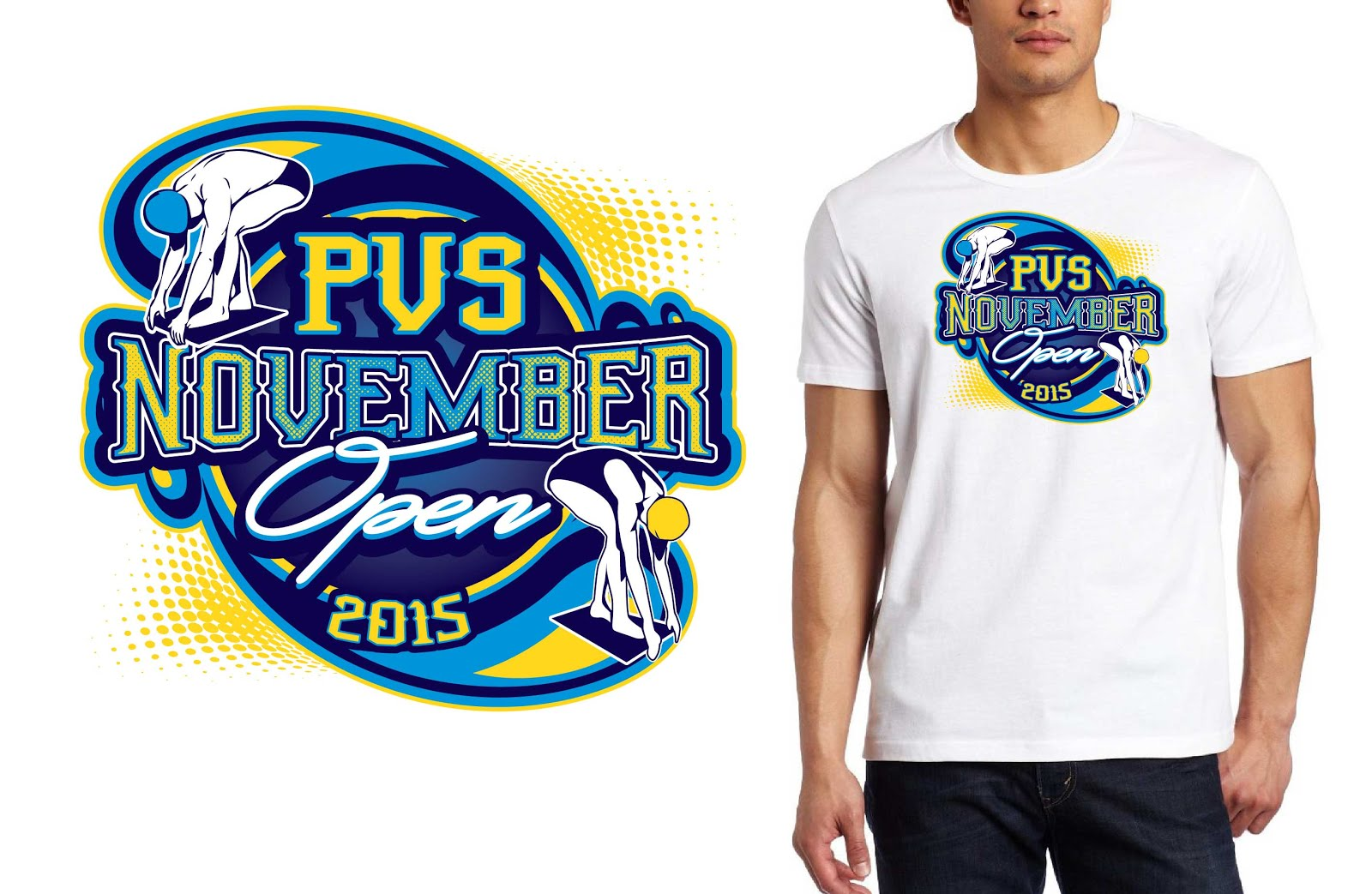 Vector Tshirt Logo Design For Swimming Competition