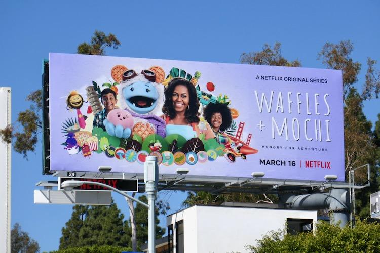 Waffles + Mochi series premiere billboard