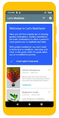 Screenshot of Let's Meditate Meditation App