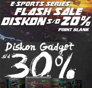 Promo Diskon dan E-Sports Series Flash Sale PB Garena 2017