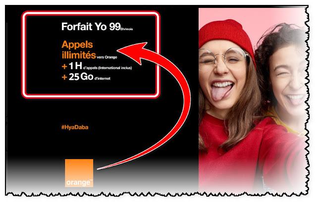 جديد,فورفي,اورنج,99,درهم,25,جيجا,انترنت,بالاضافة,الى,1,ساعة ,مكالمات