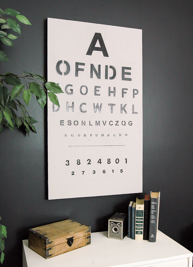 Old artwork turned eye chart