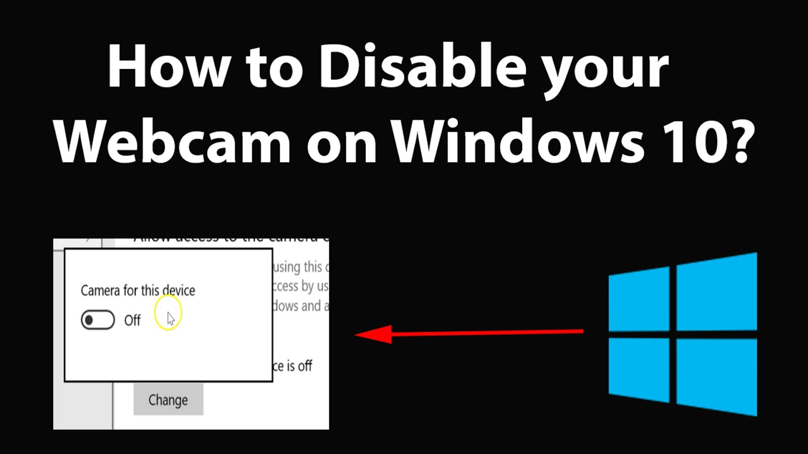 How to Disable the Webcam in Windows 10 - Windows Basics