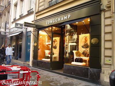 bagfetishperson a visit to longchamp store in paris. Black Bedroom Furniture Sets. Home Design Ideas