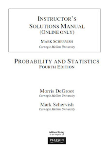Instructor's Solutions Manual for Probability and Statistics 4th Edition
