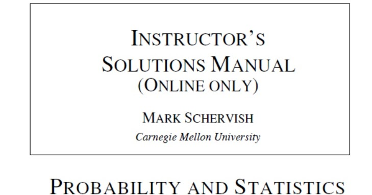 Instructor U2019s Solutions Manual For Probability And