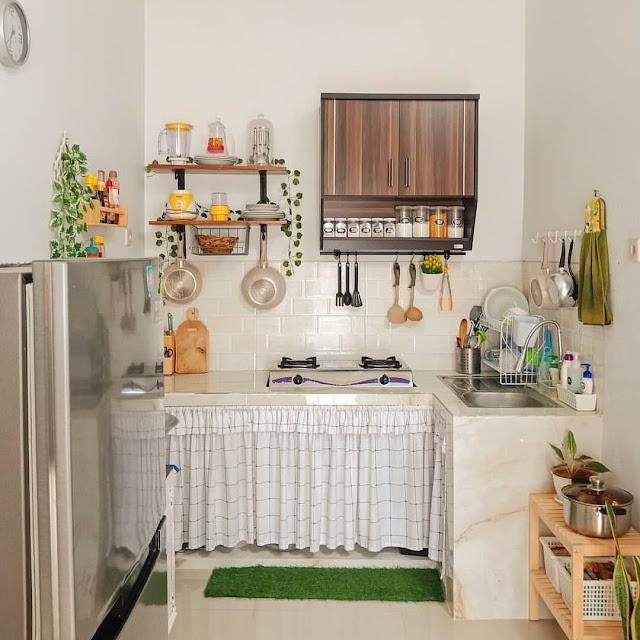 Inspirasi Dapur Minimalis Sederhana Tanpa Kitchen Set Terbaru