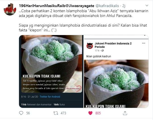 Viral Klepon Disebut Tidak Islami, Warganet Ungkap Dibuat Oleh Jokower Ahoker