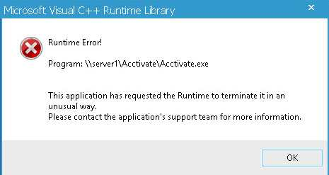 Microsoft Visual C++ Runtime Library  Error Fix
