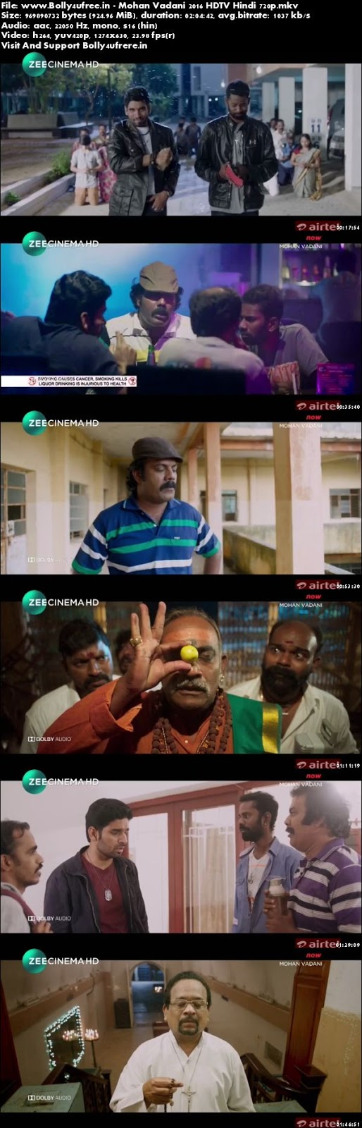 Mohan Vadani 2016 Hindi Dubbed 1GB HDTV 720p