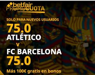 betfair promocuota Atletico vs Barcelona 21 noviembre 2020
