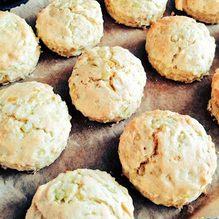 Leek and Onion scones