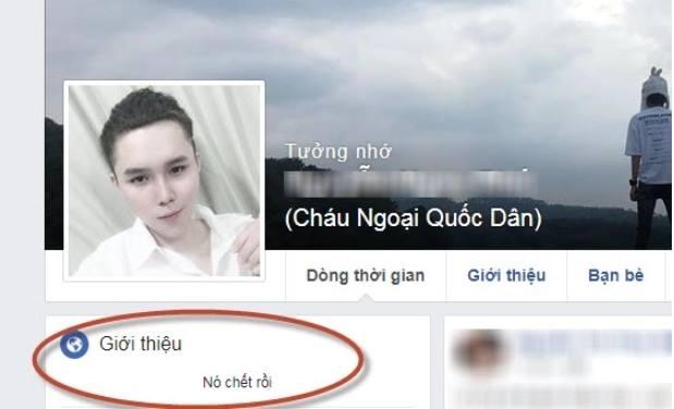 Phú báo tử trên Fb trước khi chết