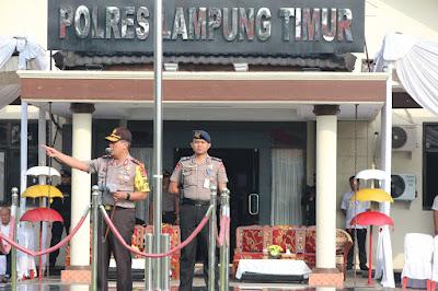 Kapolda Lampung Pimpin Apel Tiga Pilar