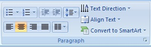 MS PowerPoint Home Tab 2007