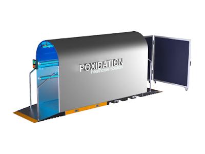 Desinfektionstunnel mit UV-Licht, Poxidation