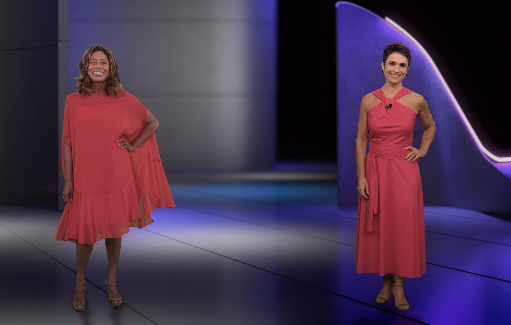Glória Maria e Sandra Annenberg (Foto: Reprodução / Globo).