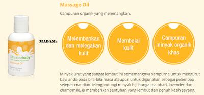 massage oil shaklee baby