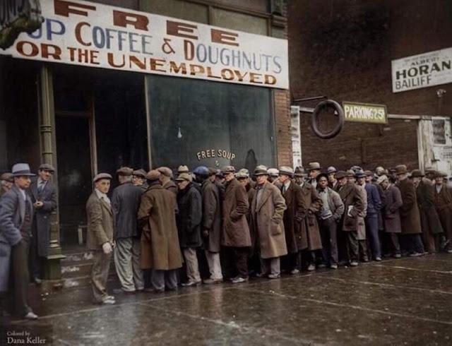 la Gran Depresión cocina en Chicago que proporcionaba más de 120.000 comidas
