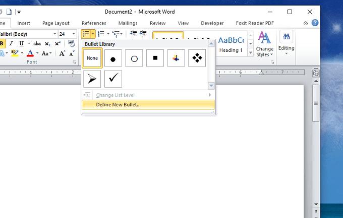 Cách tạo checkbox, check, uncheck trong Word