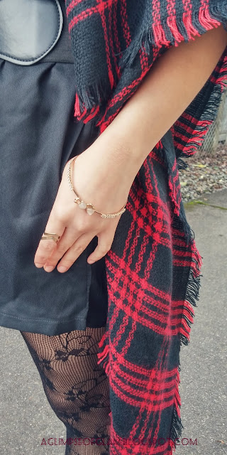 Gold Bangle and Chevron Ring Newchic - Andrea Tiffany aglimpseofglam
